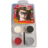 Eulenspiegel Gesichtsschminke - Motivset, Sortierte Farben, Dracula, 1 Set