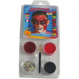 Eulenspiegel Gesichtsschminke - Motivset, Sortierte Farben, Spiderman, 1 Set