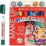 Playcolor Make up, Sortierte Farben, Metallisch , 6x5 g/ 1 Pck.