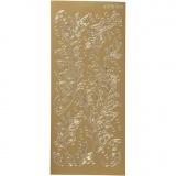 Sticker, Gold, Blätter, 10x23 cm, 1 Bl.