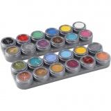 Grimas Gesichtsschminke auf Farbpalette, Sortierte Farben, 24x2,5 ml/ 1 Stck.