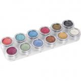 Grimas Gesichtsschminke auf Farbpalette, Perlmuttfarben, 12x2,5 ml/ 1 Stck.