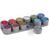Grimas Gesichtsschminke auf Farbpalette, Perlmuttfarben, 12x15 ml/ 1 Stck.