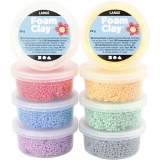 Foam Clay Large, Sortierte Farben, 8x20 g/ 1 Pck.