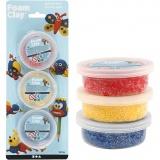 Foam Clay® , Blau, Rot, Gelb, 3x14 g/ 1 Pck.