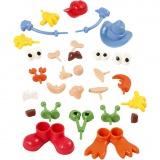 Körperteile, Sortierte Farben, Größe 0,8-6,8 cm, 26 Stck./ 1 Pck.