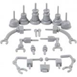 Roboterteile, Grau, Größe 0,5-6 cm, 19 Stck./ 1 Pck.