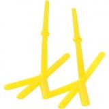 Hühner-Füße, Gelb, H: 28 mm, L: 37 mm, 50 Stck./ 1 Pck.