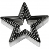 Ausstechförmchen, Stern, Größe 8 cm, 5 Stck./ 1 Pck.