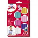 FIMO® Kids Clay, Zusätzliche Farben, 6x42 g/ 1 Pck