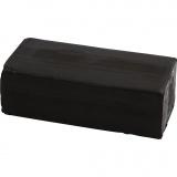 Soft Clay Knetmasse, Schwarz, Größe 13x6x4 cm, 500 g/ 1 Pck.