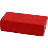 Soft Clay Knetmasse, Rot, Größe 13x6x4 cm, 500 g/ 1 Pck.