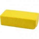 Soft Clay Knetmasse, Gelb, Größe 13x6x4 cm, 500 g/ 1 Pck.