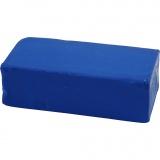 Soft Clay Knetmasse, Blau, Größe 13x6x4 cm, 500 g/ 1 Pck.