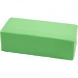Soft Clay Knetmasse, Neongrün, Größe 13x6x4 cm, 500 g/ 1 Pck.