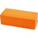 Soft Clay Knetmasse, Neonorange, Größe 13x6x4 cm, 500 g/ 1 Pck.