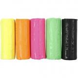 Soft Clay Knetmasse, Neonfarben, H: 9,5 cm, 400 g/ 1 Eimer