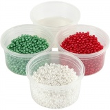 Pearl Clay® , Grün, Rot, Weiß, 1 Set, 3x25+38 g