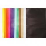 Glanzpapier, Sortierte Farben, 32x48 cm, 80 g, 100 Bl./ 1 Pck.