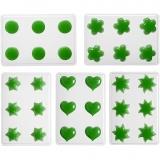 Schwimmkerzengießformen, Blumen, Herzen, Sonne, Sterne, rund, 1 Set