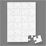 Blanco-Puzzle, Weiß, Größe 15x21 cm, 16 Stck./ 1 Pck.