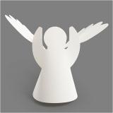 Engel, Weiß, H: 10,5 cm, D: 7 cm, 230 g, 25 Stck./ 1 Pck.