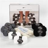DIY-Set Pompons, Graubraun, 1 Set/ 1 Schachtel