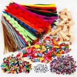 Basteln mit Klammern und Pfeifenreinigern, Sortierte Farben, 1 Set