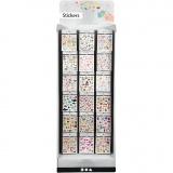 Sticker Display - Sortiment, H: 1500 mm, B: 580 mm, 432 Teile/ 1 Sortmt.