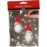 Mini-Kreativset, Weihnachtsfeen, H: 8 cm, 1 Set