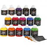 A-Color Acrylfarbe , Sortierte Farben, Glänzend, 1 Set