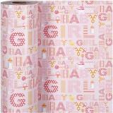 Geschenkpapier, Baby Girl, B: 50 cm, 80 g, 150 m/ 1 Rolle