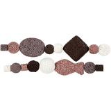 Perlen-Sortiment in Luxus-Ausführung, Altrosa (25), D: 6-37 mm, Lochgröße 2 mm, 1 Set