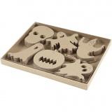 Halloween-Anhänger, Größe 7-10 cm, 6x10 Stck./ 1 Pck.