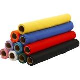 Bastelfilz, Sortierte Farben, B: 45 cm, dicke 1,5 mm, 180-200 g, 10x1 m/ 1 Pck.