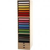 Container und Karton in Blättern als Liefereinheit, Sortierte Farben, H: 100 cm, A4, 210x297 mm, 180 g, 1 Set