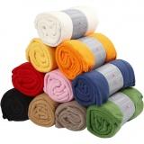 Fleece, Sortierte Farben, L: 125 cm, B: 150 cm, 10 Stck./ 1 Pck.