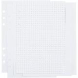 Kalenderseiten, Weiß, Punkte, Größe 142x210 mm, 36 , 120 g, 1 Stck./ 1 Pck.