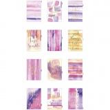 Kalendereinlagen, Gold, Flieder, Rosa, A5, 12 , 1 Stck./ 1 Pck.