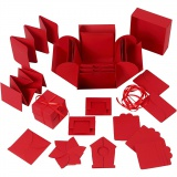 Explosion Box, Rot, Größe 7x7x7,5+12x12x12 cm, 1 Stck.