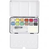 Art Aqua Aquarellfarbe, Metallic-Farben, Größe 10x15 mm, 12 Farbe/ 1 Pck.