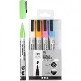 Kreide-Marker, Kräftige Farben, Strichstärke 1,2-3 mm, 5 Stck./ 1 Pck.