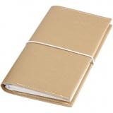 Kalender/Planer, Gold, Größe 10x18x1,5 cm, mit elastischem Verschluss, 1 Stck.