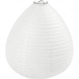 Reispapier-Lampe/-Lampion, Weiß, Regentropfen, H: 27 cm, D: 25 cm, 1 Stk