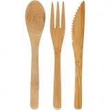 Bambus-Besteck, L: 16 cm, 1 Set