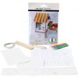 Mini-Kreativ-Set, Eisstand aus einem Milchkarton, 1 Set