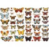 Vintage-Glanzbilder, Schmetterlinge, 16,5x23,5 cm, 2 Bl./ 1 Pck.