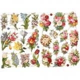 Vintage-Glanzbilder, Frühlingsblumen, 16,5x23,5 cm, 2 Bl./ 1 Pck.