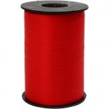 Geschenkband, Rot, B: 10 mm, Matt, 250 m/ 1 Rolle