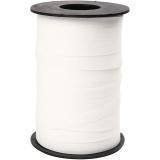 Geschenkband, Weiß, B: 10 mm, Matt, 250 m/ 1 Rolle